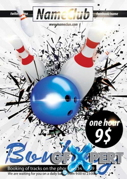 Free Bowling V5 Psd Flyer Template Download