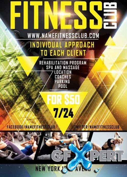 Free Fitness PSD Flyer Template download – Free Fitness Flyer Templates