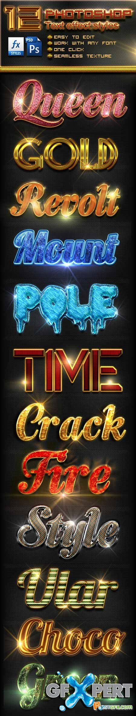 Graphicriver 12 Photoshop Text Effect Styles Vol 6 10780717