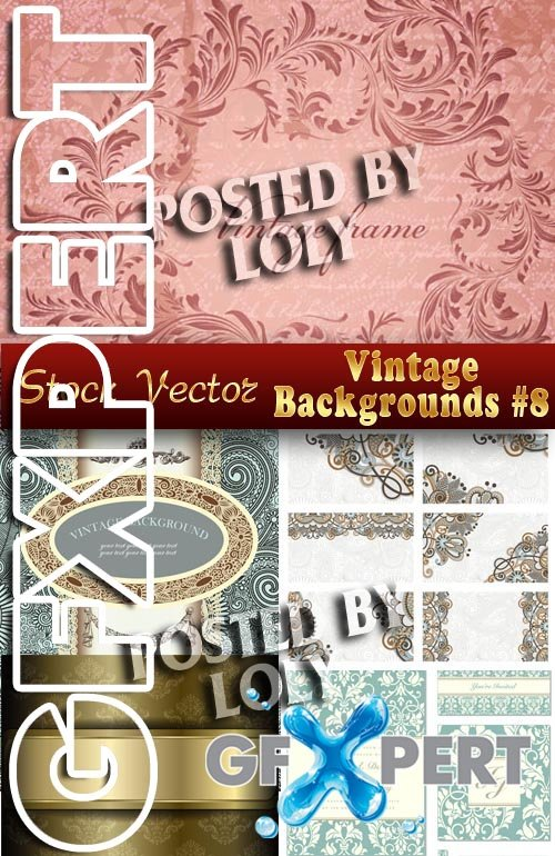Vintage backgrounds #8 - Stock Vector