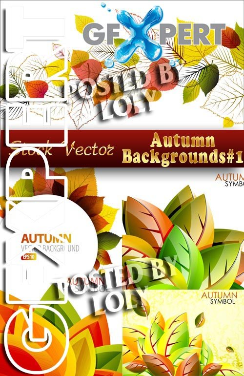 Autumn backgrounds #1 - Stock Vector