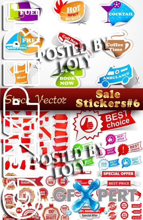 Stickers. SALE #6 - Stock Vector
