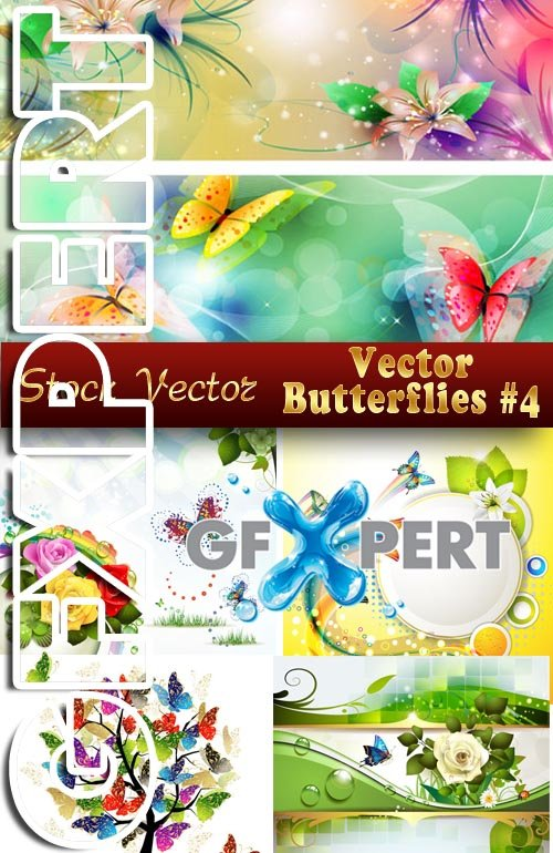 Vector Butterflies #4 - Stock Vector