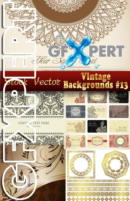 Vintage backgrounds #13 - Stock Vector