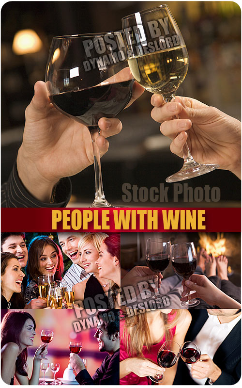 People with wine - UHQ Stock Photo