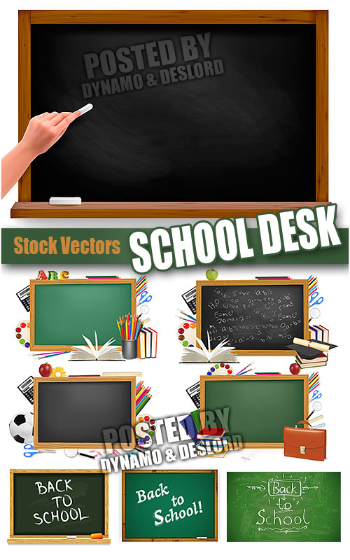 School desks Vectors