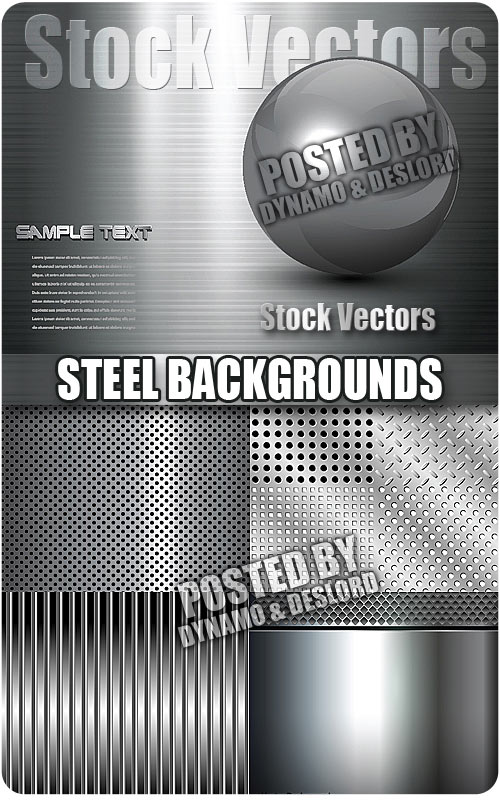 Steel backgrounds - Stock Vectors