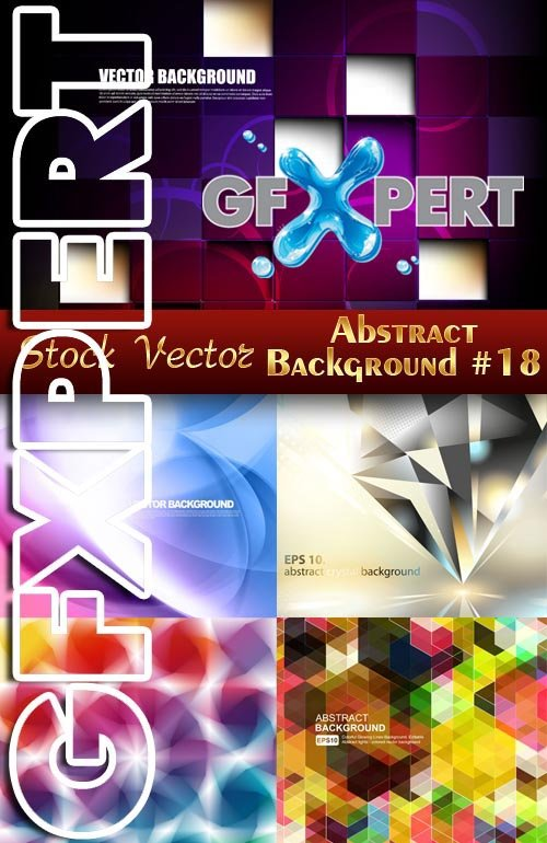 Vector Abstract Backgrounds #18  - Stock Vector