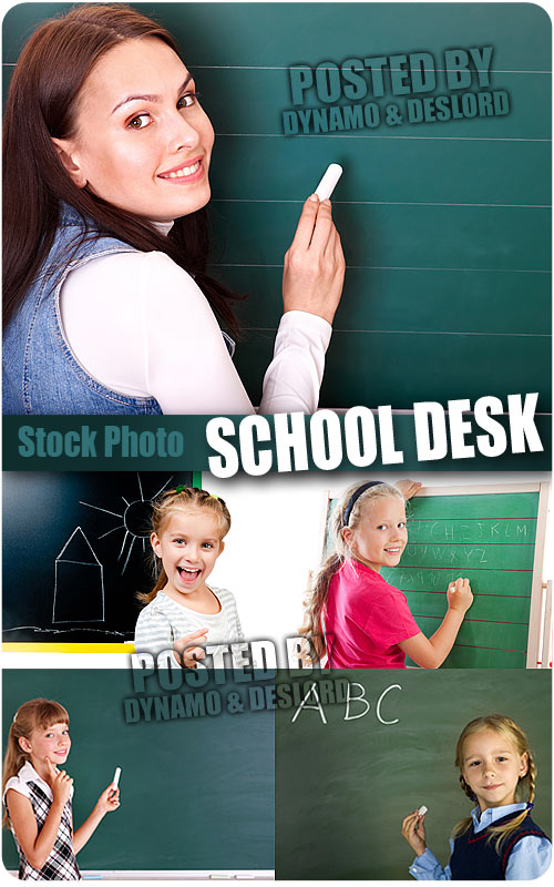 School desk - UHQ Stock Photo