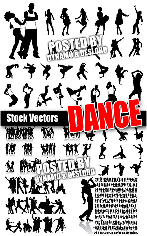Dance siluetes - Stock Vectors