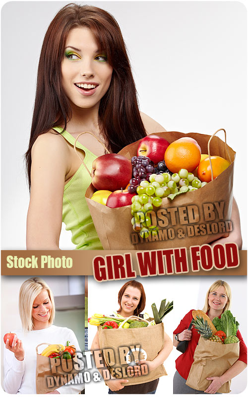 Girl with food - UHQ Stock Photo