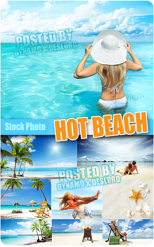 Hot beach - UHQ Stock Photo