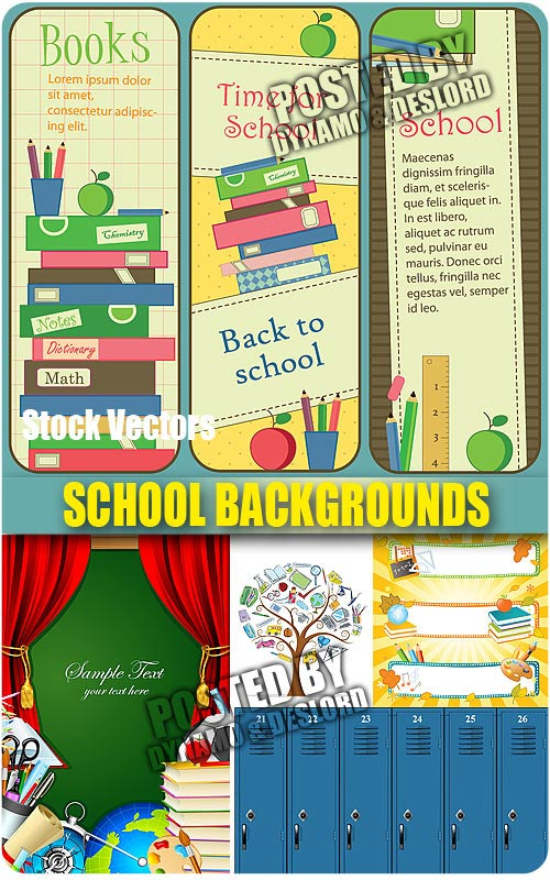 School backgrounds - Stock Vectors