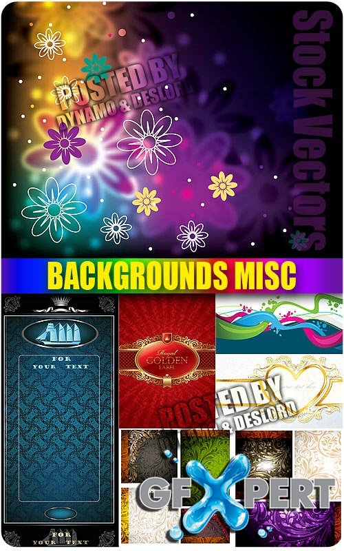 Several Backgrounds misc - Stock Vectors