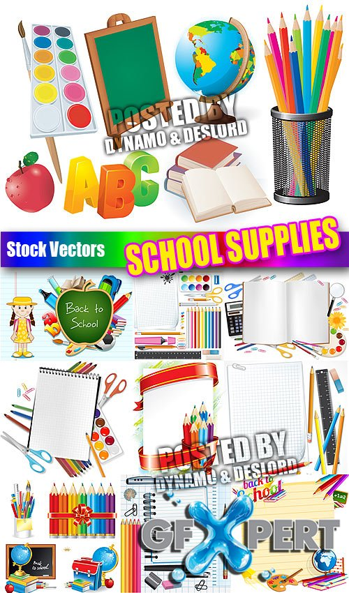 School supplies - Stock Vectors