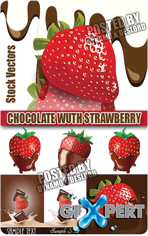 Chocolate wuth strawberry - Stock Vectors