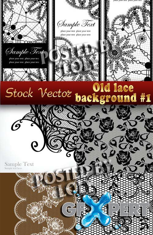 Vintage lace background - Stock Vector