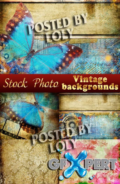Vintage backgrounds #12 - Stock Photo