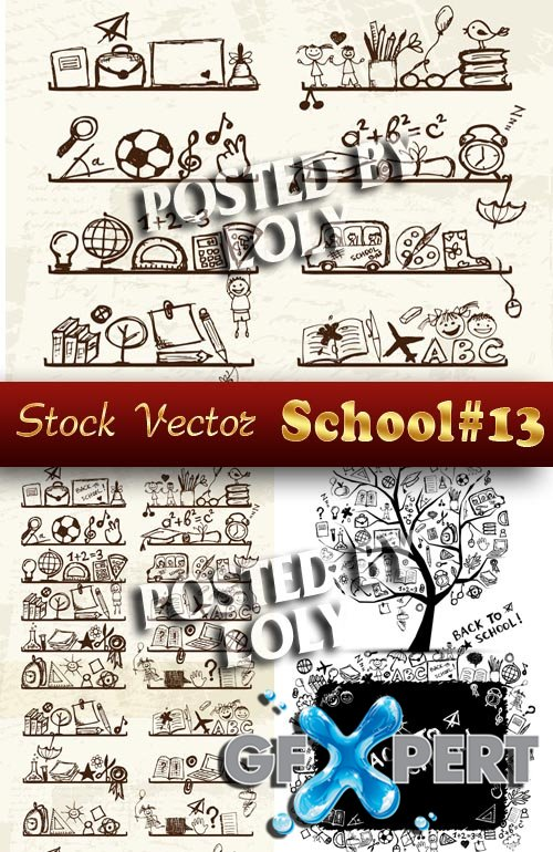 Back to School #13 - Stock Vector
