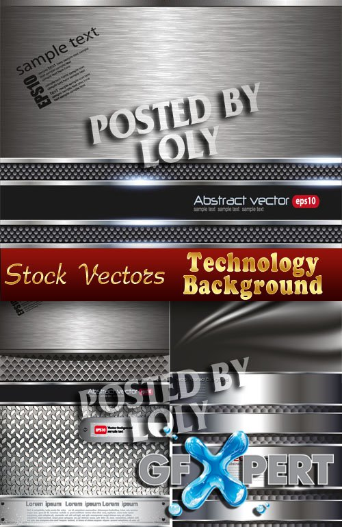 Technology Backgrounds  - Stock Vector