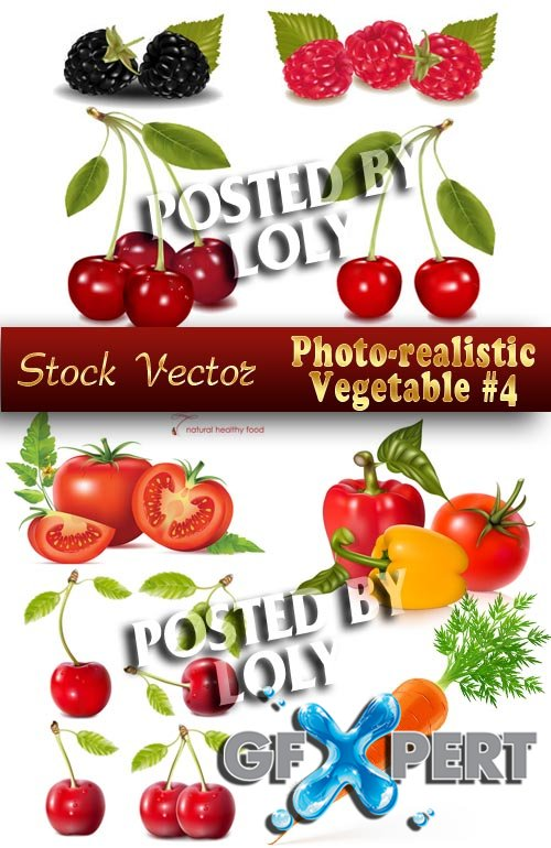 Photo-realistic Vegetable #4 - Stock Vector