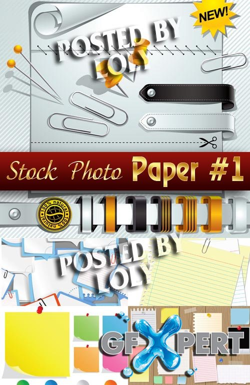 Paper sticker vector #1 - Stock Vector
