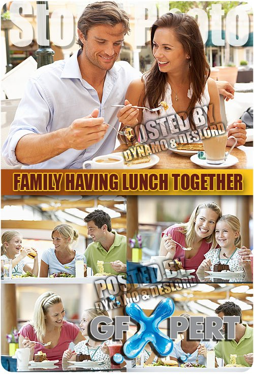 Family Having Lunch Together - UHQ Stock Photo