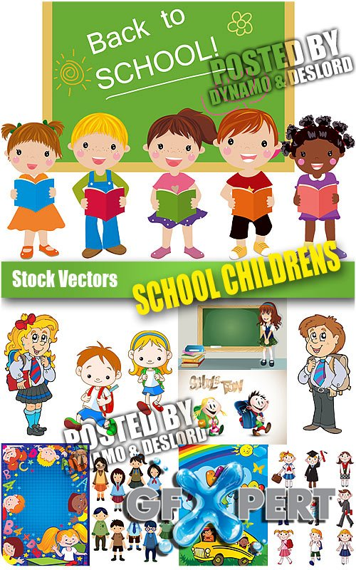 School childrens - Stock Vectors