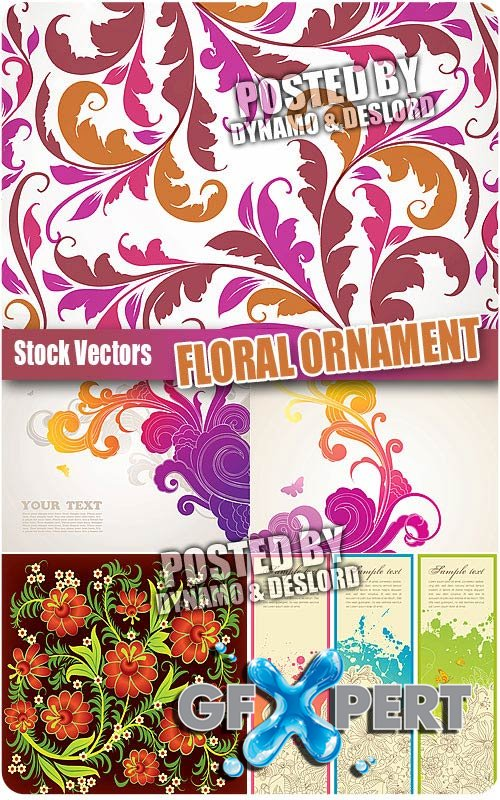 Floral ornament - Stock Vectors