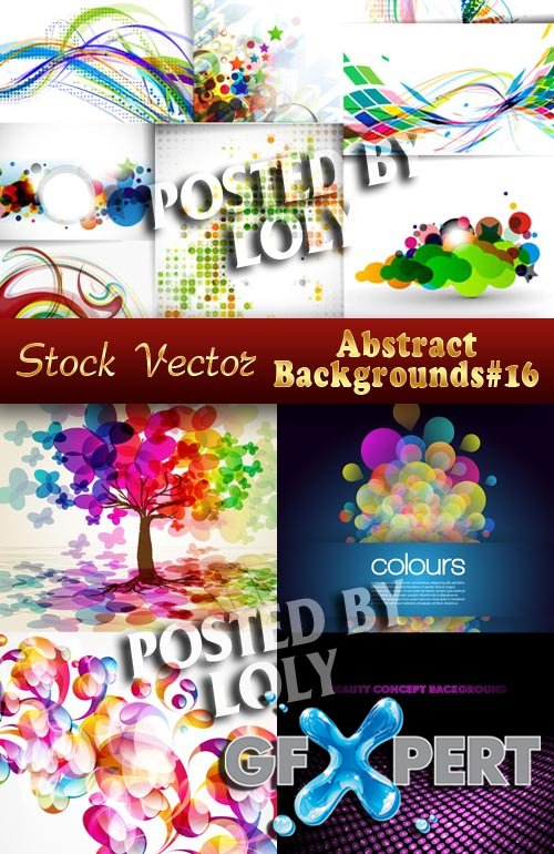 Vector Abstract Backgrounds #16  - Stock Vector