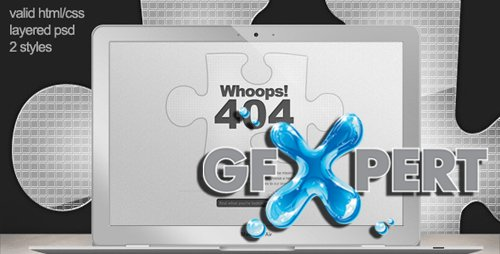 ThemeForest - Custom 404 Error Page - Missing Jigsaw Piece RETAiL