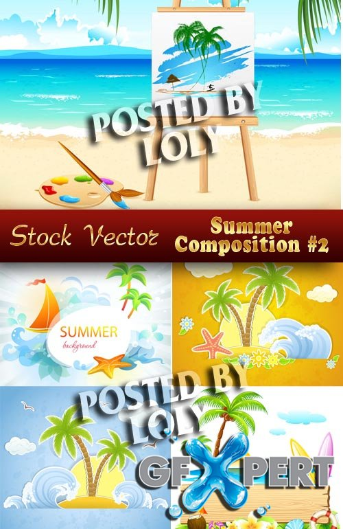 Summer Compositions # 2 - Stock Vector