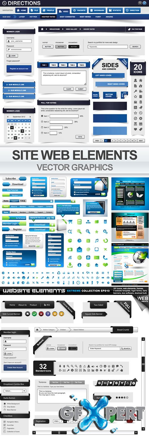 Vector Web Elements Bundle