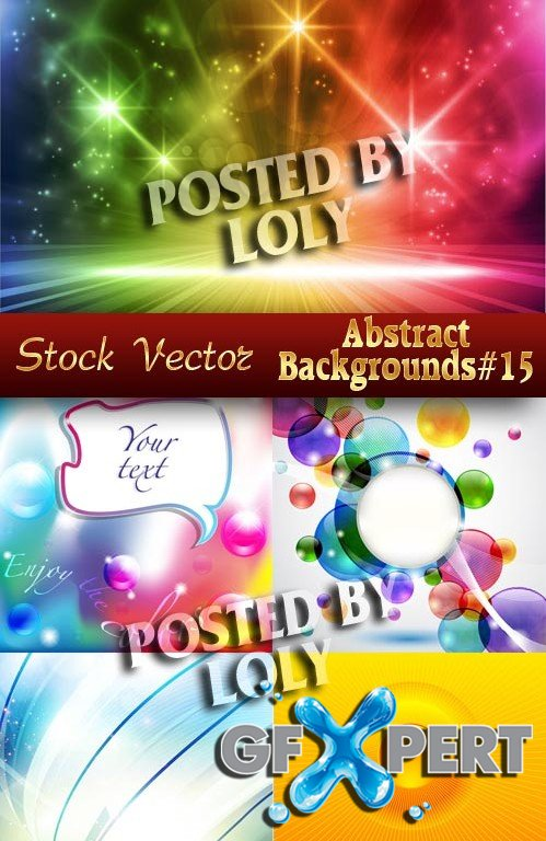 Vector Abstract Backgrounds #15  - Stock Vector