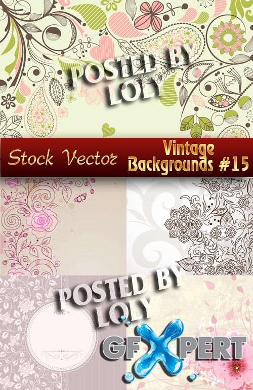 Vintage backgrounds #15 - Stock Vector
