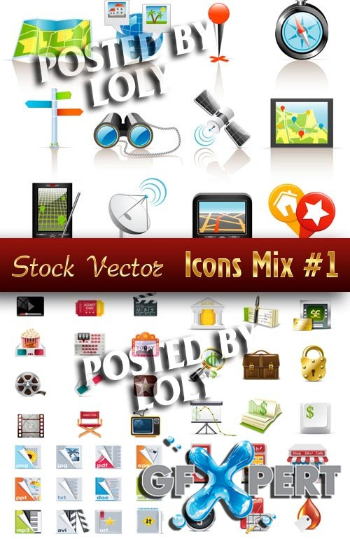 Icon. Mix - Stock Vector