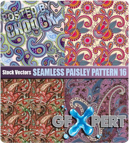 Seamless paisley pattern 16 - Stock Vector