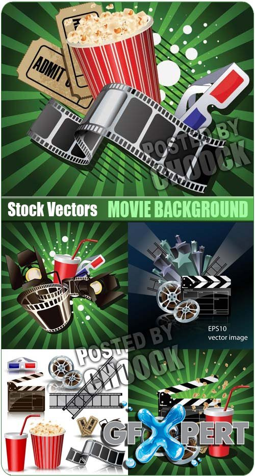 Movie background - Stock Vector