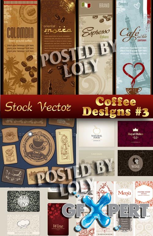 Coffee Designs #1 - Stock Vector
