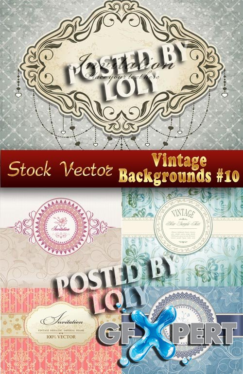 Vintage backgrounds #10 - Stock Vector
