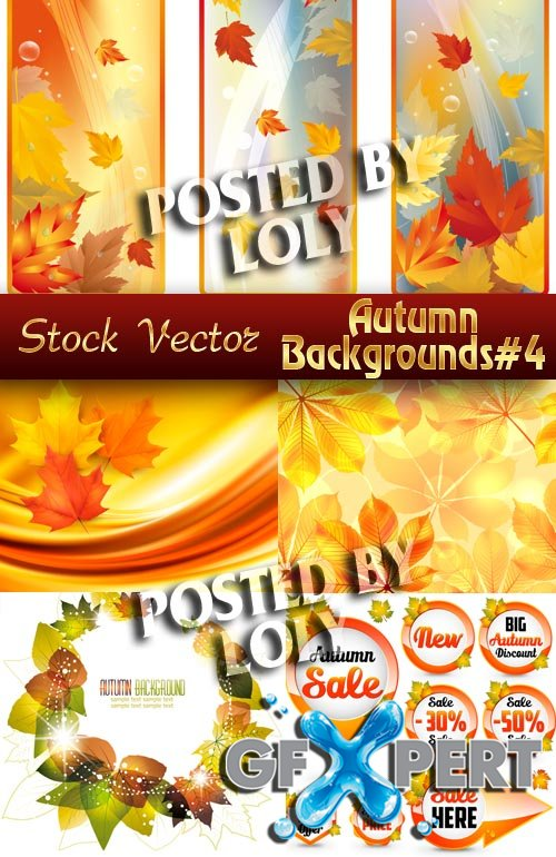 Autumn backgrounds #4 - Stock Vector