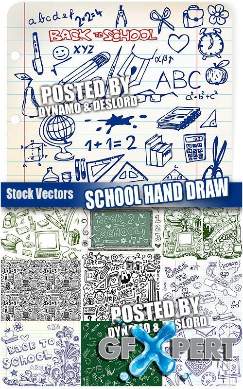 School hand draw - Stock Vectors