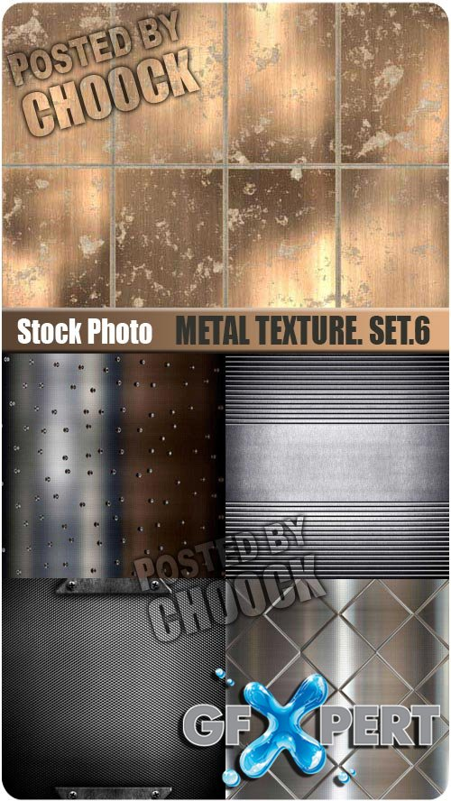 Metal texture. Set.6 - Stock Photo