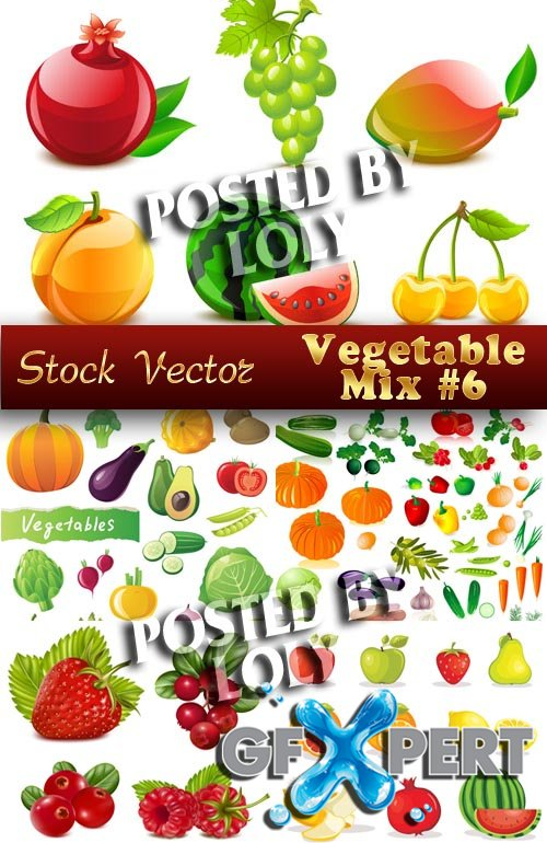 Vegetable mix #6 - Stock Vector