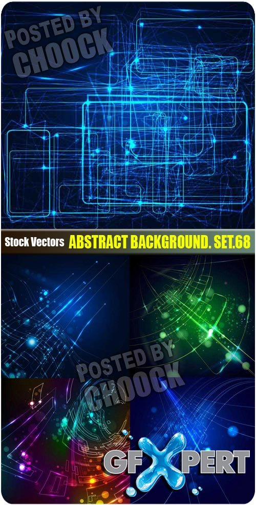 Abstract background. Set.68 - Stock Vector