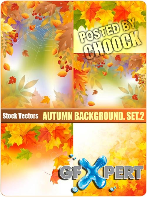 Autumn background. Set.2 - Stock Vector