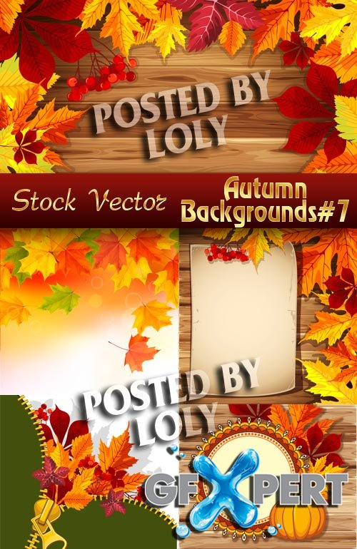 Autumn backgrounds #7 - Stock Vector