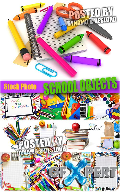 School objects 2 - UHQ Stock Photo