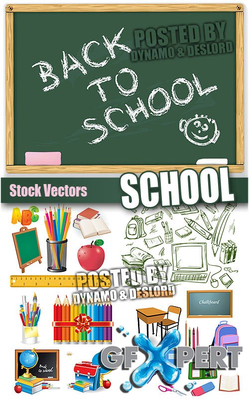 School 12 - Stock Vectors