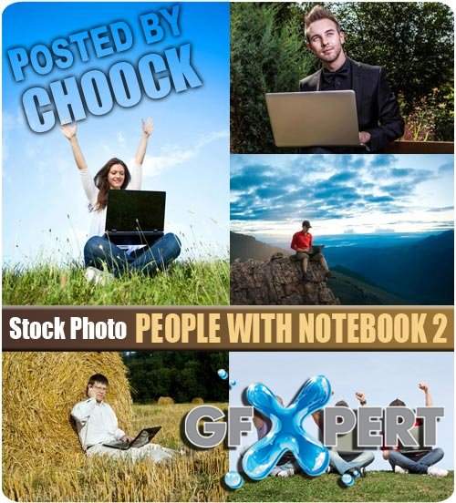 People with notebook 2 - Stock Photo